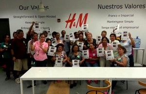H&M workers in New Jersey show their solidarity with Cambodian workers