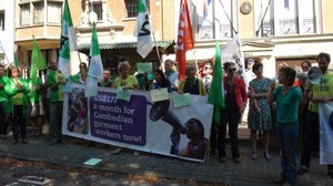 Solidarity actions in Brussels