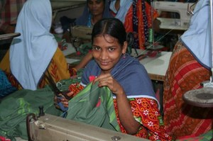 Over 4 million people in Bangladesh work in the garment industry, the majority of them women.