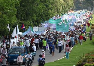 Cambodia May 1st rally