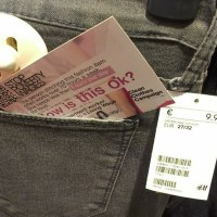 Across Europe alternative price tags were distributed throughout stores to raise awareness of the poverty wages received by the people making the clothes