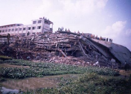 Action for safe factories in Bangladesh on 5th anniversary of Spectrum disaster