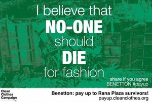Benetton targeted over Rana Plaza compensation on International Human Rights Day