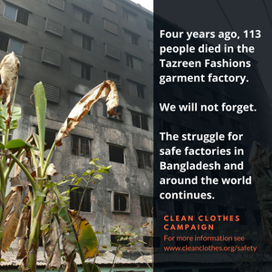 Four years since the Tazreen factory fire: justice only half done