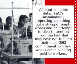 H&M is trying to cover up its unfulfilled commitment on living wage