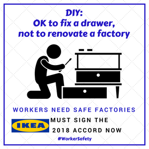 Work to make Bangladeshi factories safe continues, but IKEA refuses to join