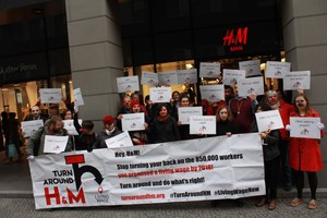 Global week of action against poverty wages at H&M
