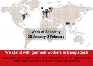 Demonstrations at Bangladeshi embassies demand respect for garment workers' rights