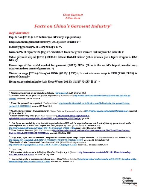 China Factsheet  February 2015
