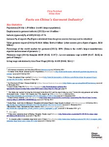 China Factsheet  February 2015