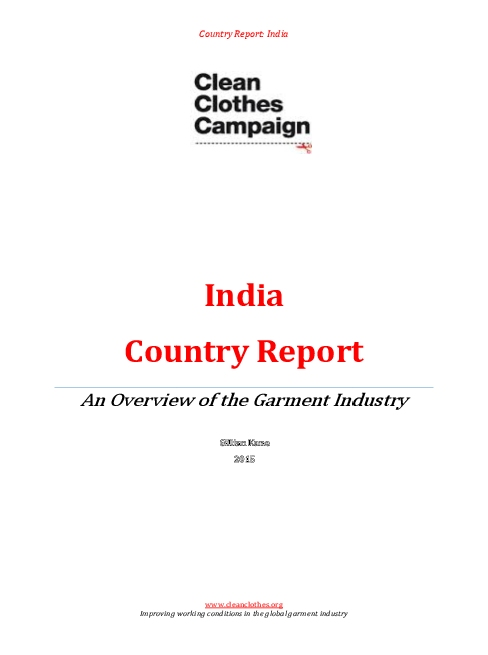 India Country Report February 2015