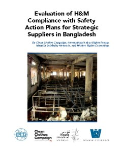 Evaluation of H&M Compliance with Safety Action Plans for Strategic Suppliers in Bangladesh 2015