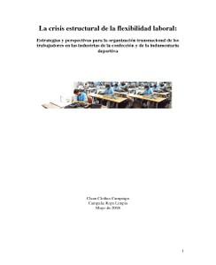 La crisis estructural de la flexibilidad laboral