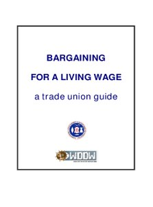 Bargaining for a Living Wage: A Trade Union Guide