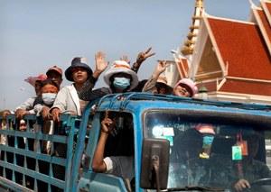 Protest in Cambodia.  Credit: Marieke van der Velden/Hollandse Hoogte