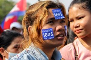 Cambodia wage strike
