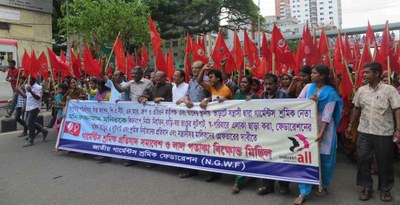 workers protesting
